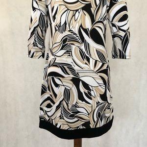 White House Black Market Dresses - White House Black Market Pattern Knit Dress